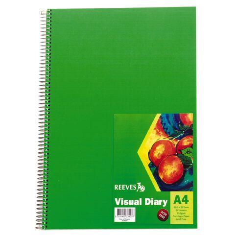 Reeves Visual Diary Green A4