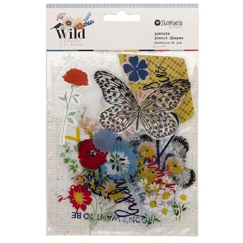 Rosie's Studio Wildflower Acetate Diecuts 24 Pack