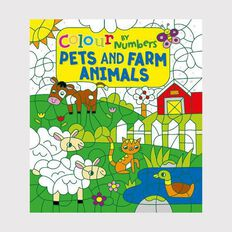 Colour by Numbers: Pets & Farm Animals