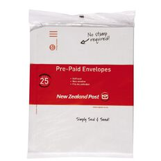 New Zealand Post Envelope Prepaid C4 Nonwindow Selfseal 25 Pack