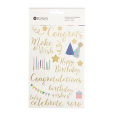Rosie's Studio Clear Foil Stickers Celebration