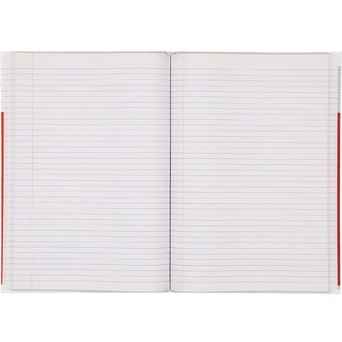 WS Lecture Book 2B8 7mm Ruled Hardcover 94 Leaf Red