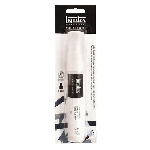 Liquitex Professional Acrylic Marker 15mm Titanium White 0432