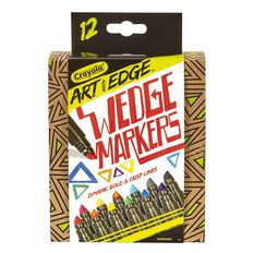 Crayola Art With Edge Wedge Markers 12 Pack