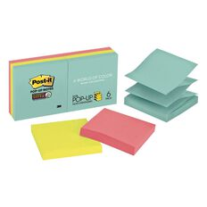 Post-It Super Sticky Pop-Up Notes Miami Collection 6Pads/Pack