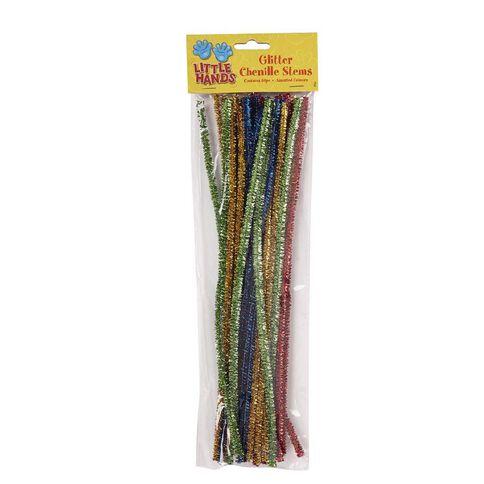 Little Hands Glitter Chenille Sticks 30 Pack