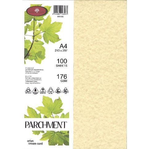 Direct Paper Parchment Paper 100gsm 100 Pack Orion Cream A4