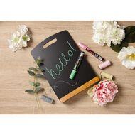 Uni Chalk Marker Bullet Tip Fluro Pink
