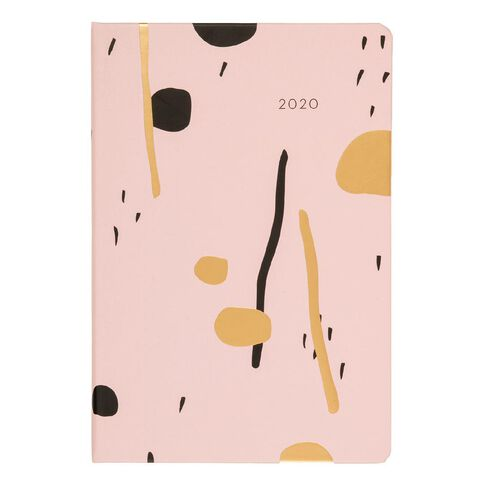 Dats Diary 2020 Day To Page Soft PU Feel Assorted A4