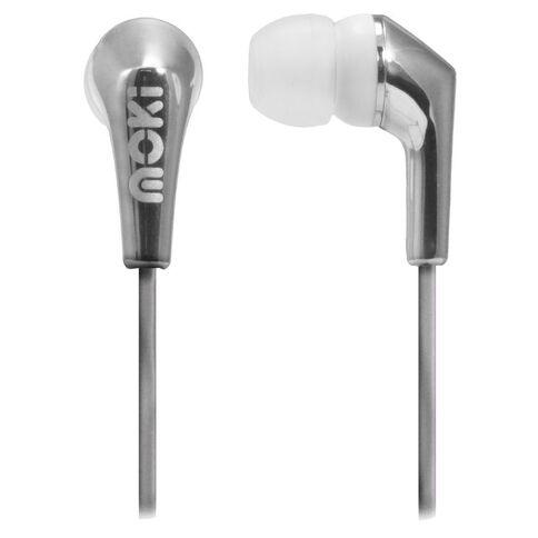 Moki Metallics Earphones Silver
