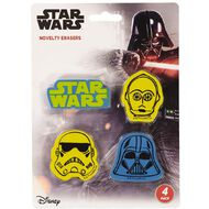Star Wars 9 Novelty Erasers 4 Pack