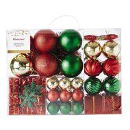 Wonderland Santa's Grotto Decoration Set Red & Green & Gold 85 Pack