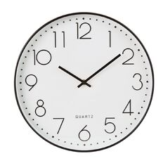 Living & Co Larsson Clock Black 35cm