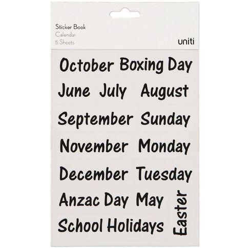 Uniti Sticker Book Calendar