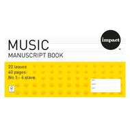 Impact Exercise Book Work Music #1 6 Stave 20 Leaf Yellow