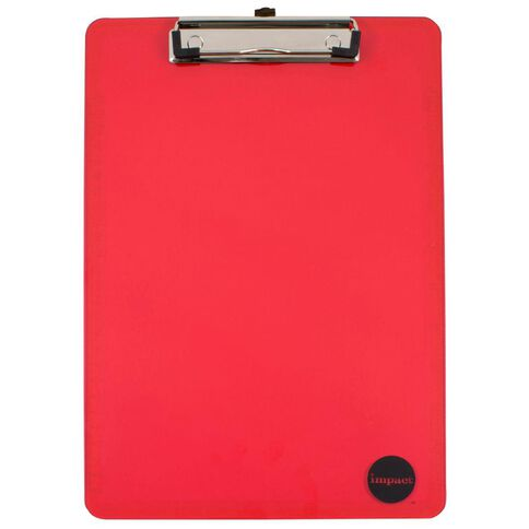 Impact Clipboard Red A4
