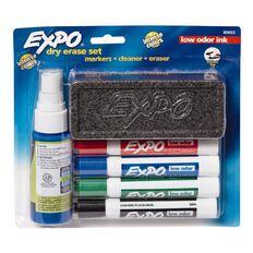Expo Whiteboard Marker Low Odour Chisel Starter Set Mixed Assortment