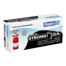 Rapid Staples 26/8 5000 Pack Silver