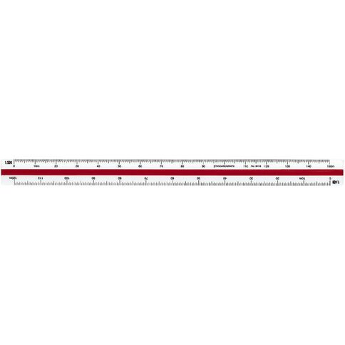 Standardgraph 9418 Tri Scale Ruler Architect Clear