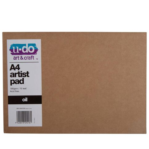 U-Do Oil Painting Pad Brown A4