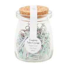Uniti Creativity Takes Courage Paper Clips In Jar 120 Pack