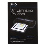 H+O Hot Laminating Pouch 100 Pack 80 Microns A4