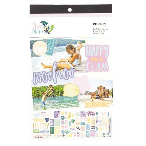 Rosie's Studio Thrive and Shine Foil Statement Pad