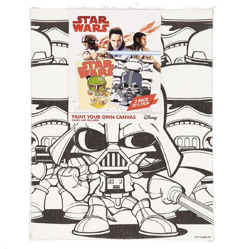 Star Wars Paint Your Own Canvas 20cm x 25cm 2 Pack