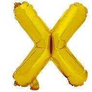 Artwrap Foil Balloon X Gold 35cm
