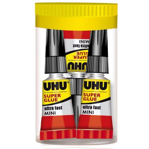 UHU Super Glue Mini 3 x 1ml Clear