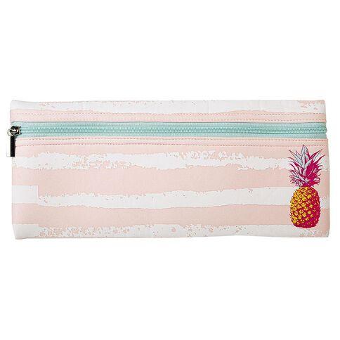 Warehouse Stationery Long Neoprene Pencil Case Pineapple