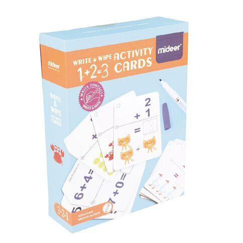 Wipe And Write Activity 1+2=3 Cards