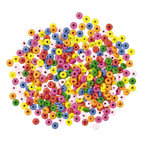 Kookie Wooden Beads Multi-Coloured 330 Pack