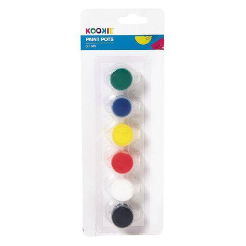 Kookie Paint Pots Standard 6ml 6 Pack