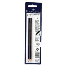 Faber-Castell Pencil Goldfaber 6B 2 Pack Black