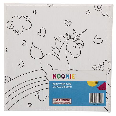 Kookie Paint Your Own Canvas Unicorn Small