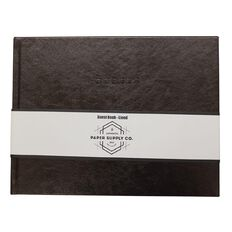 Paper Co Vintage Guest Book Landscape Brown