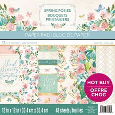 Craft Smith Paper Pad Spring Posies 12in x 12in