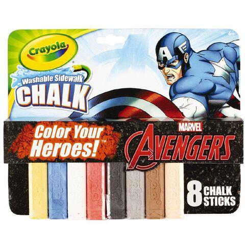 Avengers Crayola Captain America Chalk 8 Pack