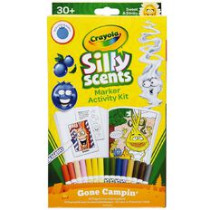 Crayola Silly Scents Marker And Colouring Book Pack Gone Camping