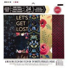 Craft Smith Paper Pad Midnight Floral 6in x 6in