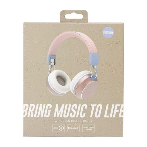 Positivity Wireless Headphones Pink/Blue