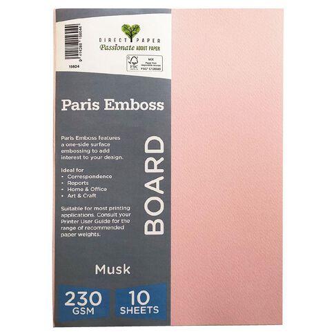 Direct Paper Paris Emboss 230gsm A4 10 Pack Musk