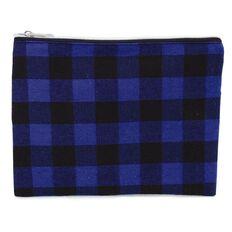 Pencil Case Lumberjack Flat Blue