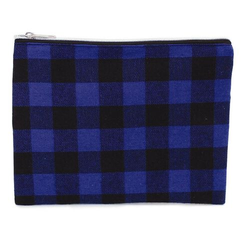 Pencil Case Lumberjack Flat Blue