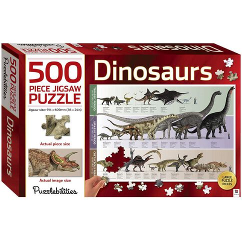 Hinkler Jigsaw Puzzle 500 Piece Dinosaurs Multi-Coloured
