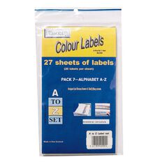Filecorp Labels Set Alpha A-Z Half Sheet Pack