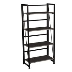 Workspace Folding Bookcase Charcoal