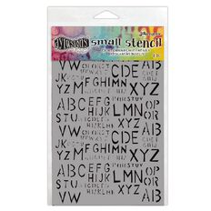 Ranger Dylusions Stencils Old School Alpha Small