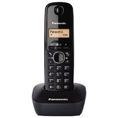 Panasonic KX-TG1611 Single Cordless Handset Black Black